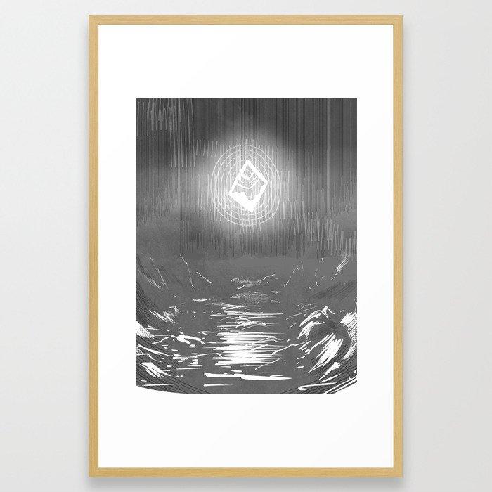 Mythic, now. Framed Art Print