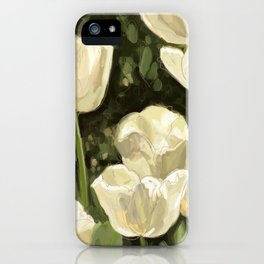 White Tulips I iPhone Case