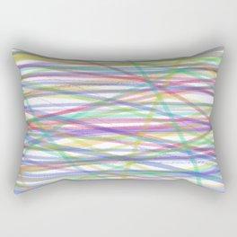 CRAYON ABSTRACT PATTERN by gail sarasohn Rectangular Pillow