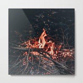 Staying Warm Metal Print
