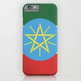 Ethiopia flag emblem iPhone Case