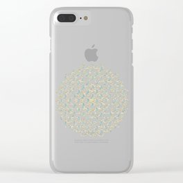 Marble Mandala Sea Shimmer Gold + Turquoise Clear iPhone Case