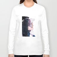 boyfriend Long Sleeve T-shirts featuring Drawing boyfriend by Rebeca Zum