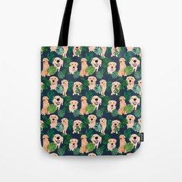 Golden Retrievers Tropical Tote Bag