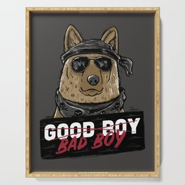 Good Boy Bad Boy Serving Tray