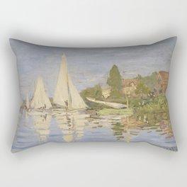 Claude Monet Regattas at Argenteuil Rectangular Pillow