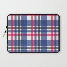 Navy & red tartan plaid Laptop Sleeve