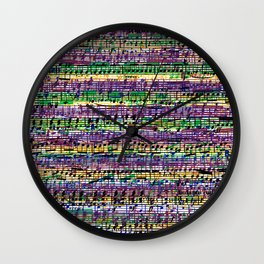 Beethoven Op 29 - Rainbow Music Collage Wall Clock
