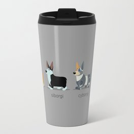 corgi, siborgi, and cybogi Travel Mug