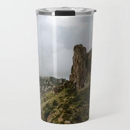 Foggy Mountaintop at Lost Mine Trail, Big Bend - Panoramic Travel Mug