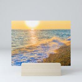 Golden sunset Mini Art Print