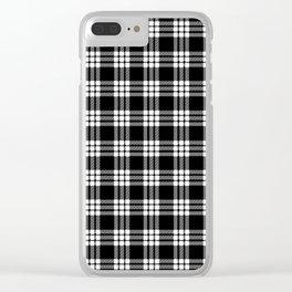 MacFarlane Black + White Tartan Modern Clear iPhone Case