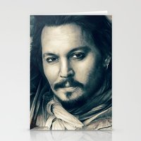johnny depp Stationery Cards featuring Johnny Depp II. by Thubakabra