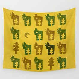 Woodragons Pattern Wall Tapestry