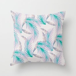 Soft violet floral print Throw Pillow