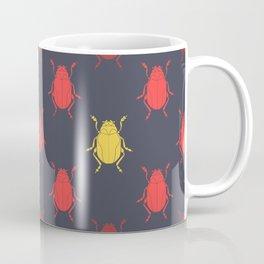 Beetles in Red Coffee Mug