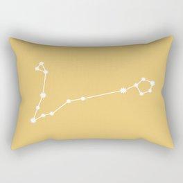 Pisces Zodiac Constellation - Golden Yellow Rectangular Pillow
