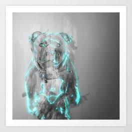 Cute Blue Dog. Art Print