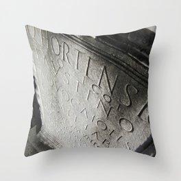 wisdom in stone. Throw Pillow