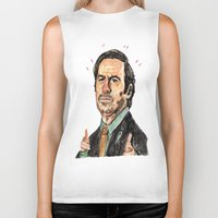 better call saul Biker Tanks featuring saul! by withapencilinhand