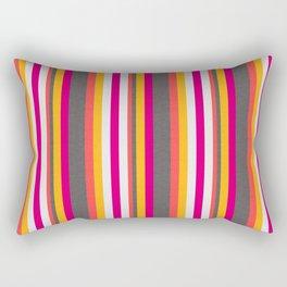 Electric Boogaloo Neon Striped Pattern Rectangular Pillow
