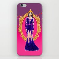 evil queen iPhone & iPod Skins featuring  Queen Grimhilde ( The Evil Queen ) by Sara Eshak