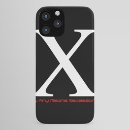 X - By Any Means Necessary Malcolm X Motif iPhone Case