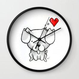 Cute Kawaii Puppy Dog Wall Clock