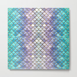 Pretty Mermaid Scales Metal Print