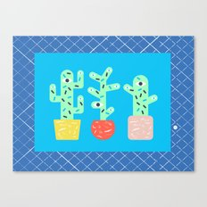 3 cactus are better than 1 Canvas Print