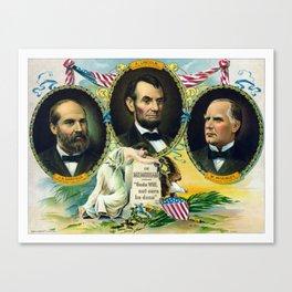 Garfield, Lincoln, and McKinley -- In Memoriam Canvas Print