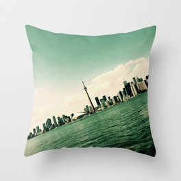 Tilted Toronto Throw Pillow