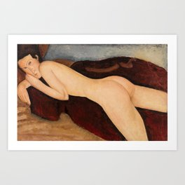 Amedeo Modigliani - Reclining Nude from the Back Art Print