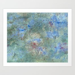 Abstract Lagoon Art Print