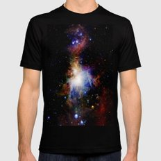 Orion NebulA Colorful Full Image MEDIUM Mens Fitted Tee Black