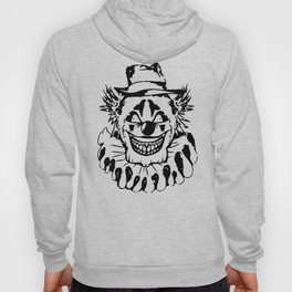 Black and white Evil Clown Hoody