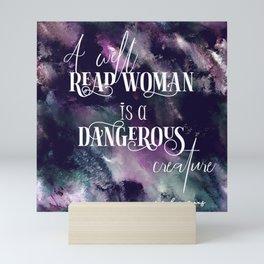 A well read woman Mini Art Print
