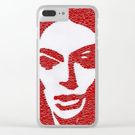Barbara Steele in Red Clear iPhone Case