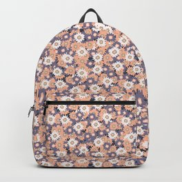 Ditsy Daisy Floral Vector Pattern Hand Drawn Backpack