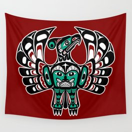 Northwest Pacific coast Haida art Thunderbird Wall Tapestry