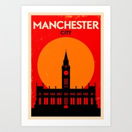 Vintage Manchester Poster Art Print