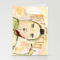 taxi driver Stationery Cards featuring Taxi Driver by Dobleu