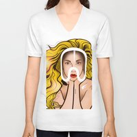 artpop V-neck T-shirts featuring ARTPOP by Alli Vanes