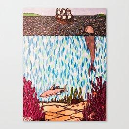 Under the Sea Shark & Whale Canvas Print