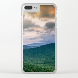 A Scenic Mountain View in Late Spring Clear iPhone Case