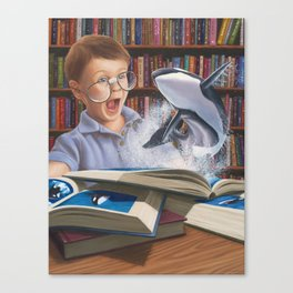 Where Books Come to Life Canvas Print
