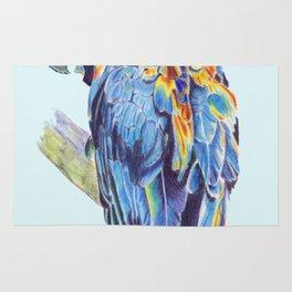 Psychedelic Parrot Australian Cockatoo Rug
