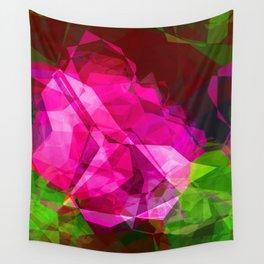 Rosas Moradas 1 Abstract Polygons 1 Wall Tapestry