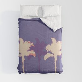 Alabaster Palm Tree Stamp Comforters