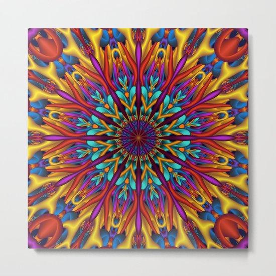 Amazing colors 3D mandala Metal Print